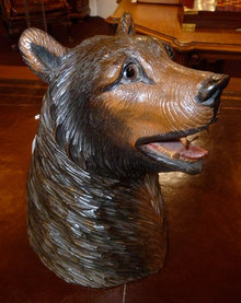 Black Forest Bear Tobacco Jar, circa 1900.