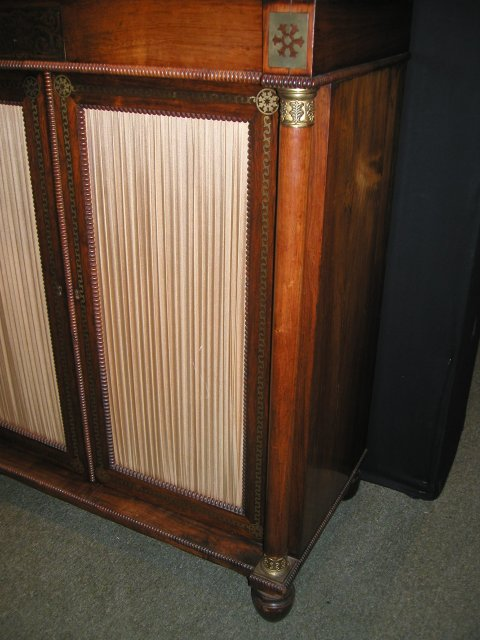 An English Antique Regency Rosewood Chiffonier.