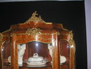 An Important 19th C French Kingwood Vitrine in the manner of Vernis Martin.