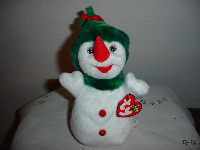 Ty Beanie Baby Christmas Snowgirl