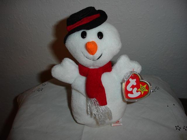 Ty Beanie Baby Christmas Snowman