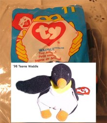 Ty Teanie Beanie Waddle the Penquin