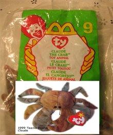 Ty Teanie Beanie Claude the Crab