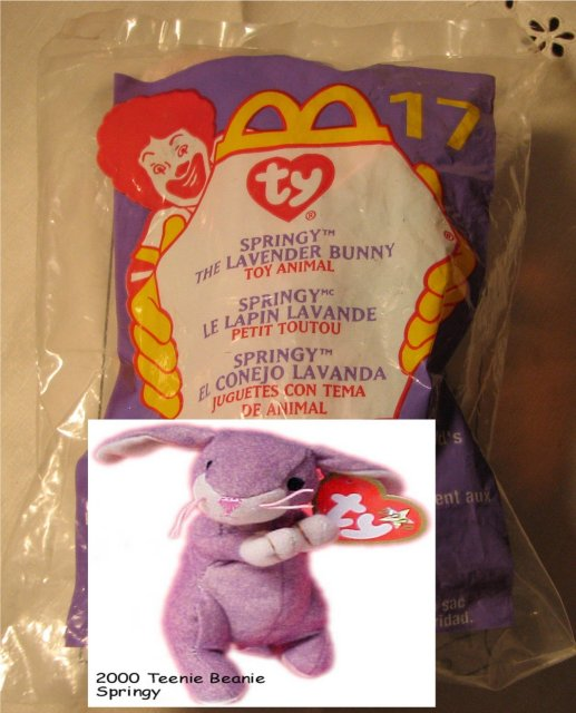 Ty Teanie Beanie Springy the Lavender Bunny