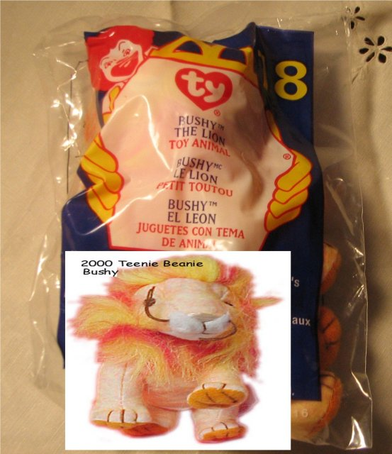 Ty Teanie Beanie Bushy the Lion