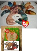 TY Beanie Baby & Teanie Beanie Pair of Crabs