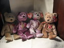 TY Beanie Baby Set of 4 Bears