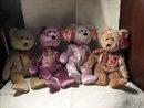 TY Beanie Baby Set of 4 Bears