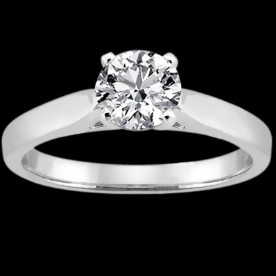 H SI1 diamond 2.51 carat solitaire ring white gold new