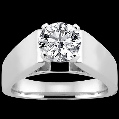Lady man diamond solitaire wedding ring 2.51 cts.