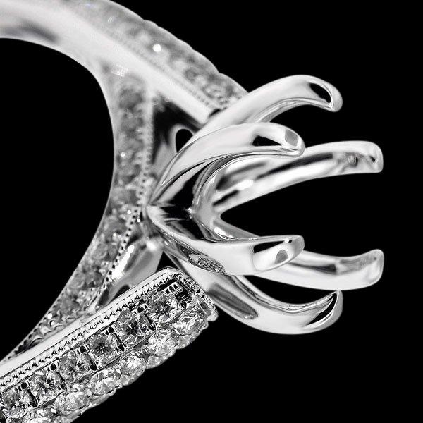 Engagement 1.05 carats diamond ring natural semi mounting new ring
