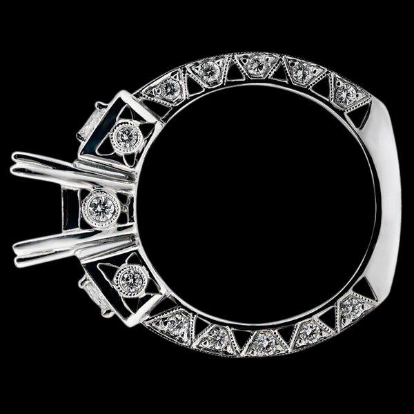 Engagement anniversary diamond ring Beautiful semi mounting 1.75 carats