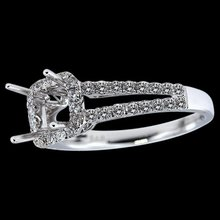 Engagement jewelry semi mounting ring 1 carat diamonds semi mount