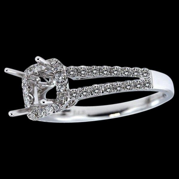 Engagement jewelry semi mounting ring 1 carat diamonds semi mount