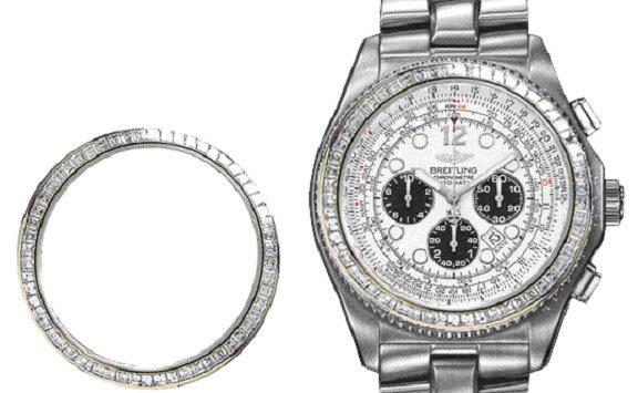 4.25 carats diamond bezel for rolex breitling luxury watch