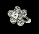 Flower floral diamonds unique style wedding ring 3.51 carats