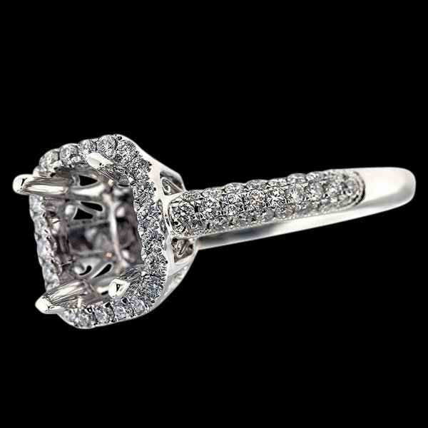 Semi mount diamonds 1 carat ring jewelry white gold semi mounting