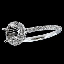 Semi mount ring white gold 1 carat diamonds semi mounting ring