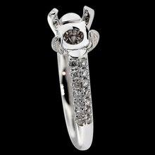 Semi mounting diamond ring pave diamond 0.85 carat semimounts jewelry ring