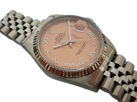 Bronze roman dial date just men's rolex datejust watch
