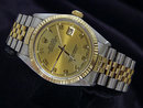 Champagne Arabic dial date just rolex mens watch
