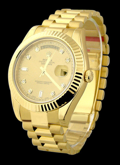 Champagne dial men's Rolex president watch day date