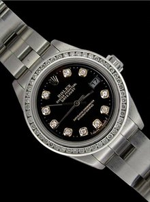 Date just rolex ladies watch oyster bracelet diamond
