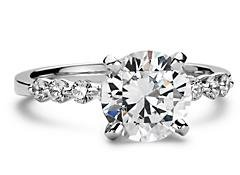 Sparkling diamonds royal engagement ring 1.31 cts.