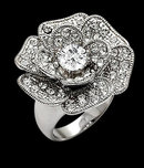 Unique style flower floral diamond ring 5.51 carats new