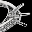 Wedding semi mounting diamond ring semi mount ring 1.50 carats