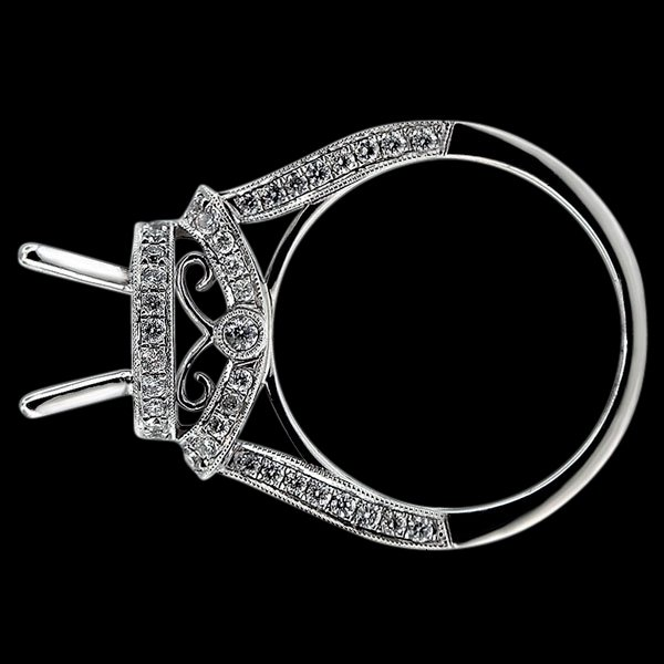 White gold jewelry Beautiful semi mounting diamond ring 1.50 carats.