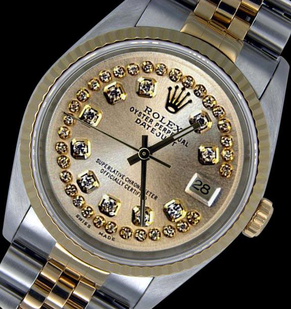 Date just rolex two tone watch mens jubilee bracelet