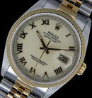 Datejust rolex two tone watch man watch roman dial