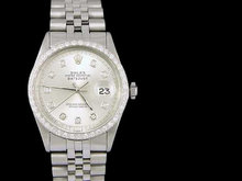 Datejust rolex watch with diamond bezel men's date just
