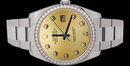 Dial diamond bezel rolex date just watch man SS