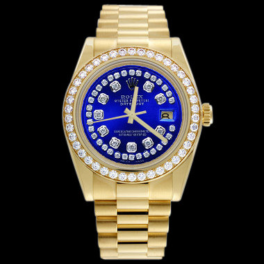 Diamond bezel dial rolex president Day-Date watch lady