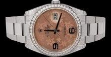 Diamond bezel rolex datejust ladies & gents watch SS