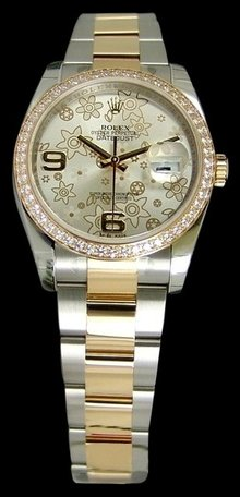 Diamond bezel rolex datejust watch ladies gents rolex