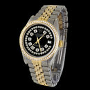 Diamond dial Rolex date just mens watch diamond bezel