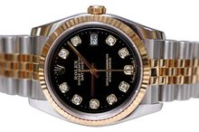 Diamond dial rolex men date just watch jubilee two tone