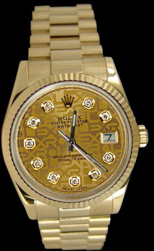 Ladies rolex presidential watch Day Date diamond dial