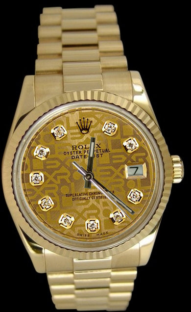 Ladies rolex presidential watch Day Date diamond dial