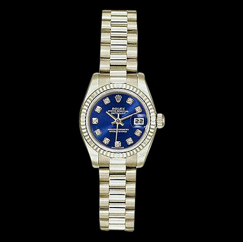 Ladies president watch ROLEX Day-Date white gold