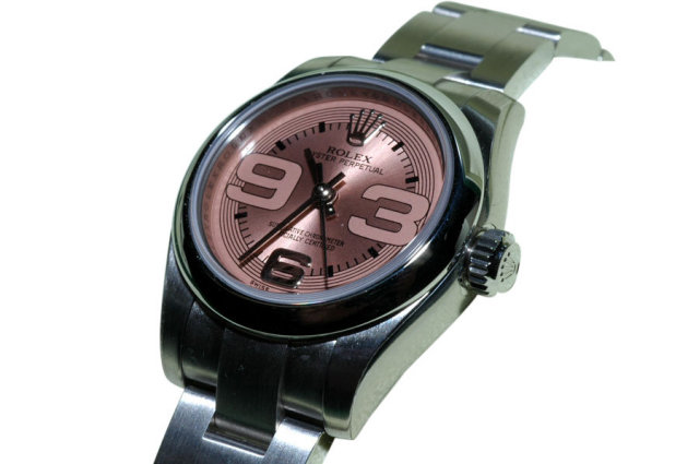 Ladies datejust rolex watch copper dial oyster bracelet