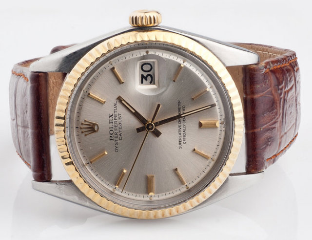 Leather band rolex date just watch stick dial rolex