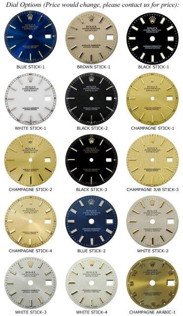 Men's rolex Date watch smooth bezel diamond dial