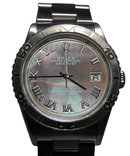 Mens datejust rolex watch rotating bezel date just