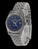 Mens rolex datejust watch blue roman dial SS date just