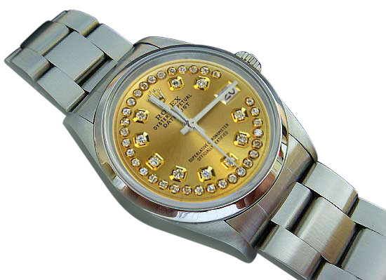 Mens rolex datejust watch smooth bezel oyster bracelet