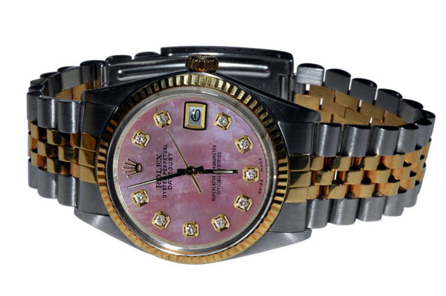Mens two tone rolex datejust watch jubilee bracelet